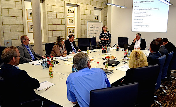 Die ILEK-Lenkungsgruppe tagte am 29. Juli 2015 im Rathaus Bergtheim